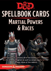 Dungeons and Dragons RPG 5th Edition: Spellbook Cards - Martial Powers & Races Deck