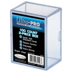 2-Piece 100 Count Clear Card Stor-Safe Storage Box