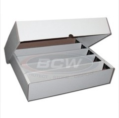 Cardboard Storage Box 5-Row with Lid (7000 cards)