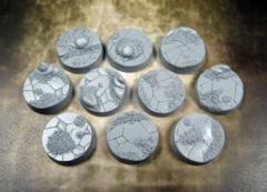 Ancient Sands 25mm Round Beveled Bases (10)