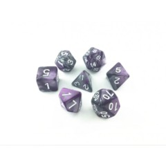 Oscar's Enchanted Blend Purple/Silver Polyhedral Dice Set (7)