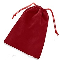 Velour Dice Bag Large Red