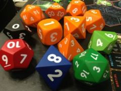 Foam Dice, Large Green / White