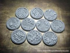 Asian Garden 30mm Round Lip Bases (10)
