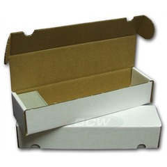 Card Storage Box, 800-count corrugated cardboard