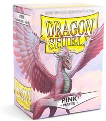 Dragon Shield, Matte Pink, 100-count box