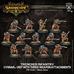 Cygnar Trencher Infantry & Attachments (13) 31105