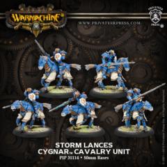 Cygnar Stormlance Cavalry 31114