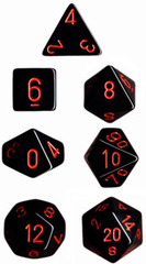 Black/Red Opaque Dice CHX25418