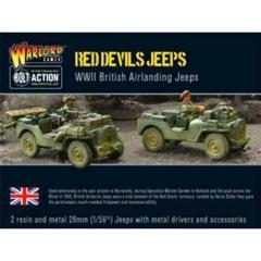 Red Devils' British Jeeps