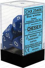 CHX25406 BLUE W/ WHITE OPAQUE 7-DIE SET