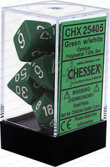 CHX25405 GREEN W/ WHITE OPAQUE 7-DIE SET