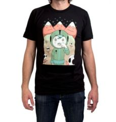 Tara McPherson Lucius And His First Mustache Finger Men's Tee Shirt LARGE