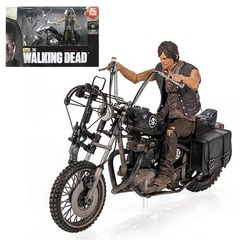 The Walking Dead Daryl Dixon Action Figure and Motorcycle Deluxe Box Set