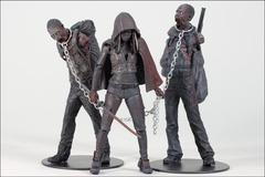 The Walking Dead Bloody 3-Pack Michonne with Zombie Pets Action Figures