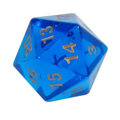 Koplow Gem Blue 1 x d20 55mm