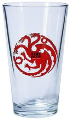 Game of Thrones Dark Horse Pint Glass House Targaryen