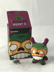 Kidrobot Dunny Agent K Dunnk NYCC Exclusive 3