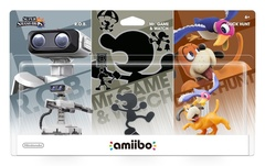 Nintendo Mr. Game & Watch, R.O.B., Duck Hunt 3-Pack Amiibo