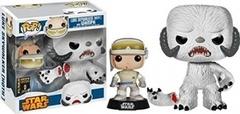 Star Wars Luke Skywalker [Hoth] and Wampa 2014 Convention Exclusive Pop Vinyl 2 Pack Box Not Mint