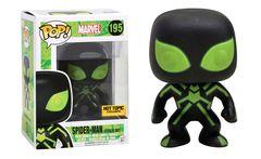 Marvel Stealth Suit Spider-Man Hot Topic Exclusive Pop Vinyl Figure