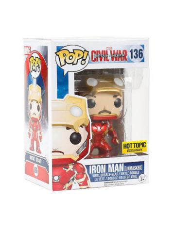 Civil War Iron Man Unmasked Hot Topic Exclusive Pop VInyl Figure