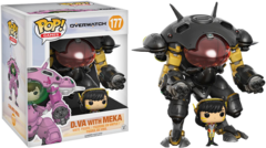 Overwatch D.VA Carbon Fiber Blizzard Exclusive Pop! Vinyl Figure and Meka Vehicle