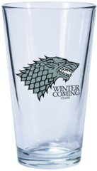 Game of Thrones Dark Horse Pint Glass House Stark Sigil
