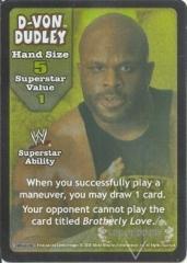 D-Von Dudley Superstar Card - SS3