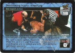 Debilitating Injury: Knee/Leg
