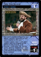 Take One Second - GenCon