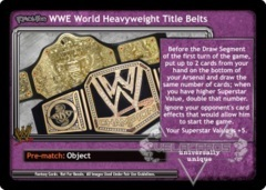 <i>Revolution</i> WWE World Heavyweight Title Belts