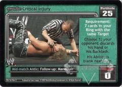 <i>Revolution</i> Critical Injury