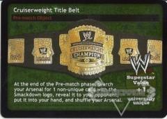 Cruiserweight Title Belt