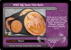 <i>Revolution</i> WWE Tag Team Title Belts