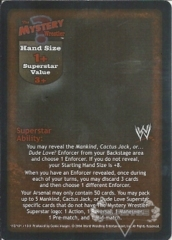 The Mystery Wrestler Superstar Card