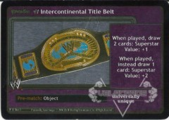 <i>Revolution</i> WWE Intercontinental Title Belt