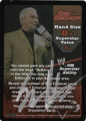RAW GM Eric Bischoff Superstar Card - SS3 - Signed by Eric Bischoff