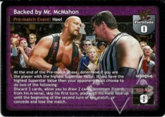 Backed by Mr. McMahon