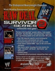 Survivor Series 2 Sales Sheet