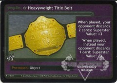 <i>Revolution</i> WWE Heavyweight Title Belt