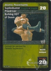 Atomic Powerbomb Suplexbuster Piledriver Bulldog DDT of Doom