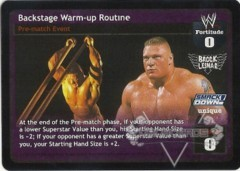 Backstage Warm-up Routine