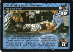 Debilitating Injury: Concussion