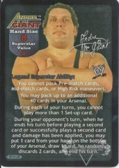 Andre The Giant Superstar Card