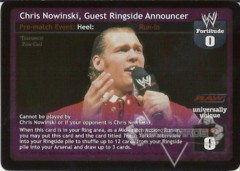 Chris Nowinski, Guest Ringside Announcer
