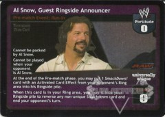 Al Snow, Guest Ringside Announcer