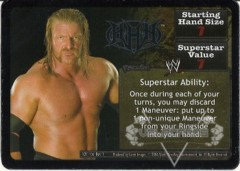 <i>Revolution</i> Triple H Superstar Card