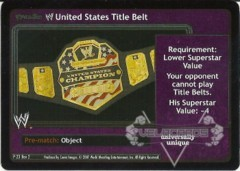 <i>Revolution</i> WWE United States Title Belt