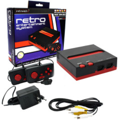 Retro-Bit NES Console - Black/Red